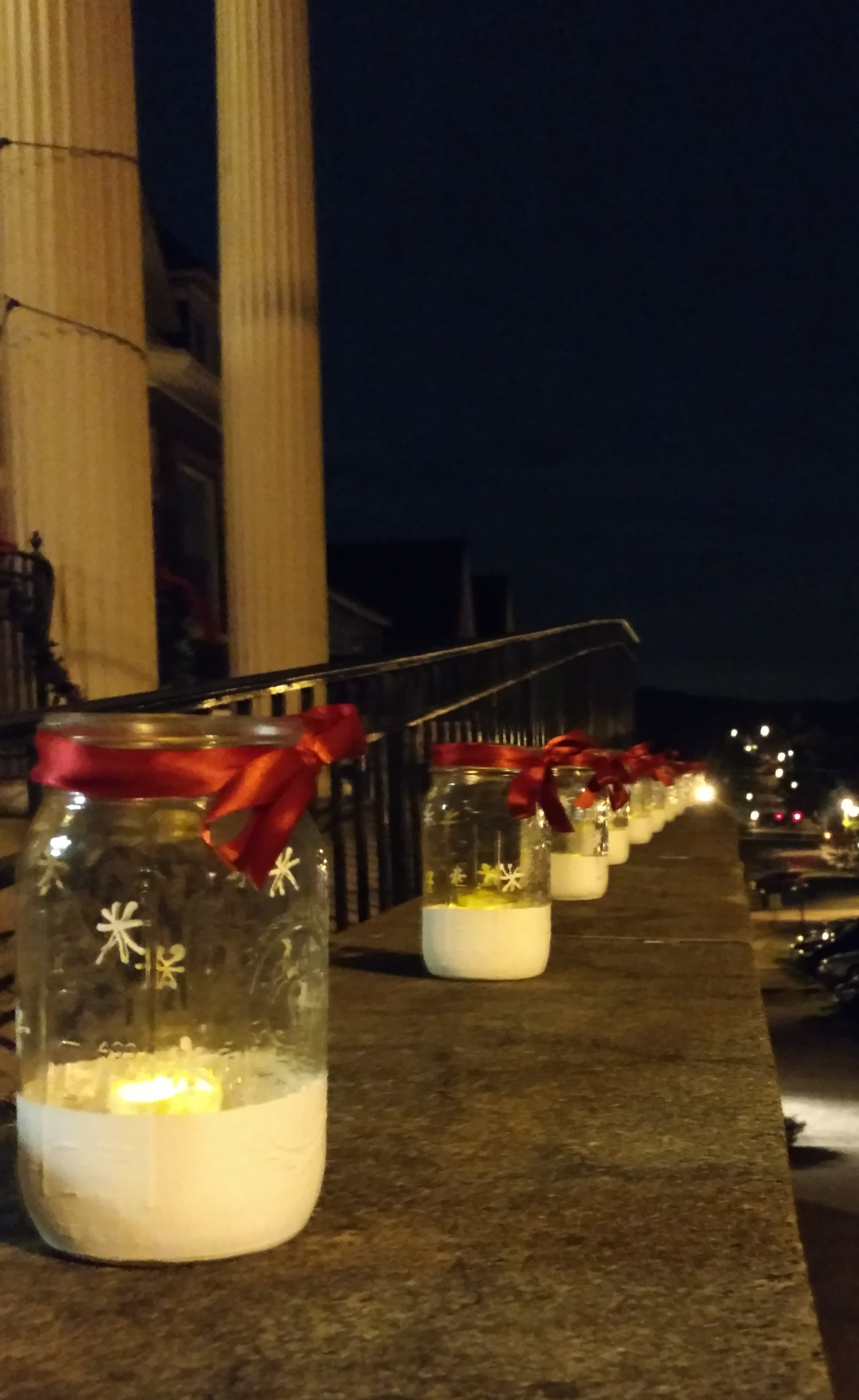 Candles in jars
